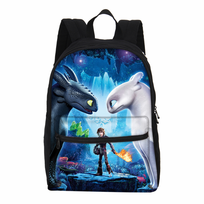 VEEVANV Brand Designer How To Train Your Dragon 3D Printing Canvas Backpacks For Boys Girls School