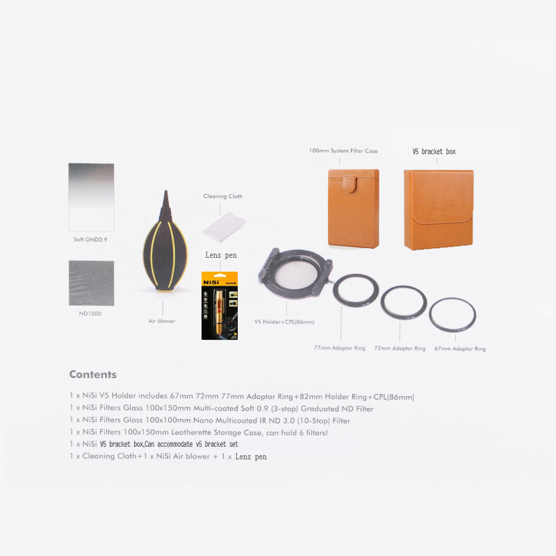 Nisi Square Filter Soft GND8(0.9) 100*150mm +AR ND1000 Filter+Cleaning Kit,Free shipping,EU tariff-free nisi square filter soft hard reverse gnd8 0 9 150 170mm ar nd1000 filter free shipping eu tariff free
