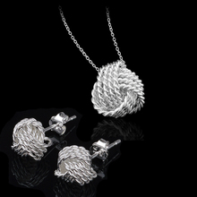Fashion Jewelry Set 925 Sterling Necklaces & Earrings