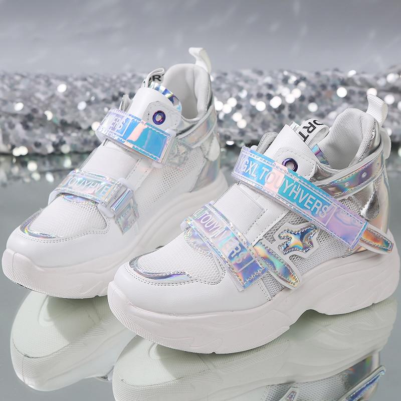 Glitter Designer Platform Sneakers Women Casual Shoes Woman Sneakers basket Trainer Female Chunky Sneakers 2019 Zapatillas MujerGlitter Designer Platform Sneakers Women Casual Shoes Woman Sneakers basket Trainer Female Chunky Sneakers 2019 Zapatillas Mujer