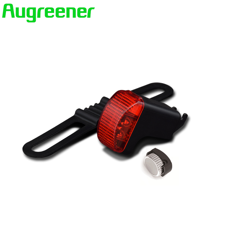 Augreener Waterproof bicycle rear light Red Safety LED Warning Cycling Accessory No battery Neodymium Magnet Bike Tail Light rear waterproof red