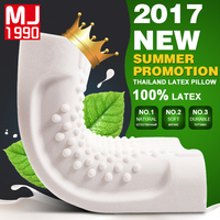 Natural Latex Pillow Bed Cervical Orthopedic Pillows Neck Wave Memory Foam Pillowcases Sleeping Bedding Massage Particles Pillow