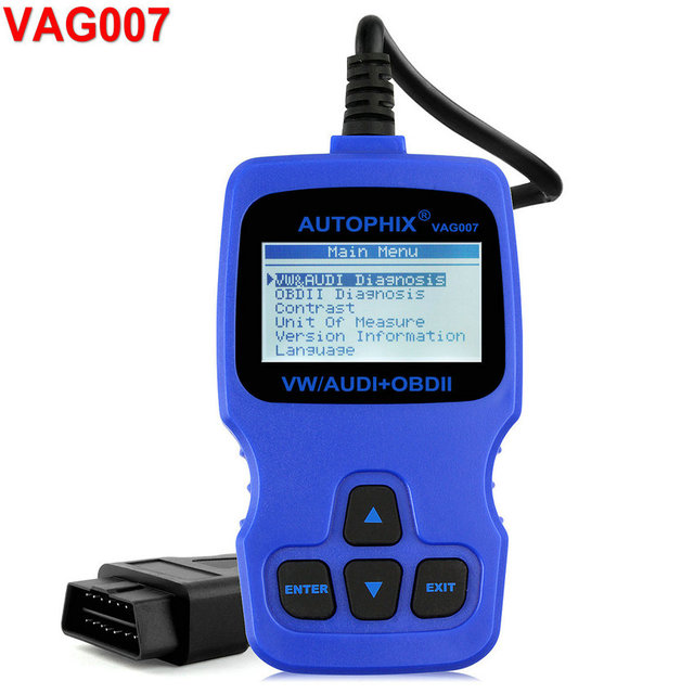 Autophix VAG007 OBD2 Code Reader and Diagnostic Scan Tool for VW/Audi/Seat/Skoda Series Vehicles ABS SRS Scanner