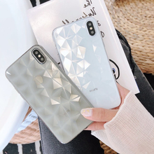 phone protection Diamond Texture Case For iPhone 6 6s 7 8 Plus  Soft Phone Cover for iPhone 7 Luxury Transparent Ultra Thin