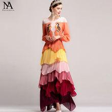 Женское длинное платье с кружевной вышивкой элегантное составного