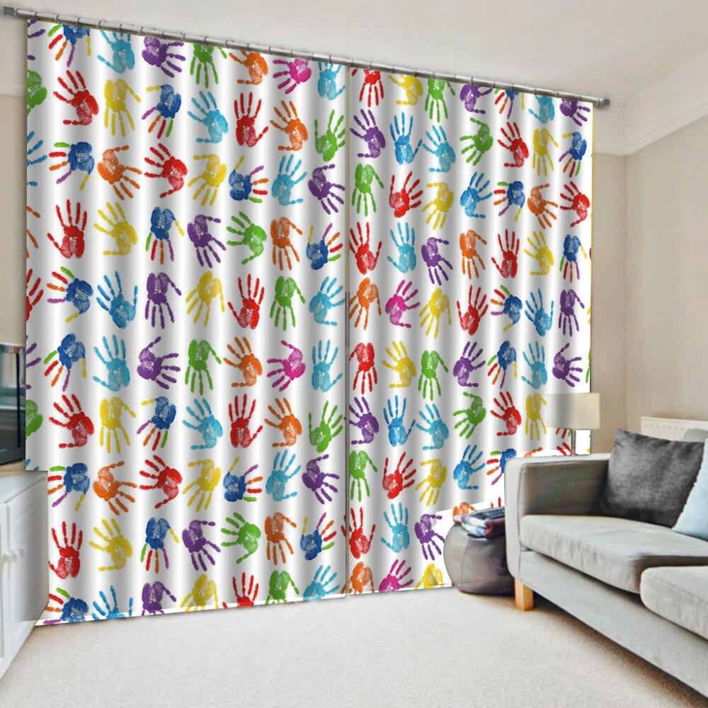 Rideaux de palme fenêtre occultant luxe 3D rideaux ensemble pour chambre salon bureau hôtel maison