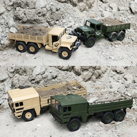 1:16 RC Truck 2.4Ghz Radio Controlled Off Road Military Truck Cars Simulation Vehicle Body Assemble Kids Car Toys Gift