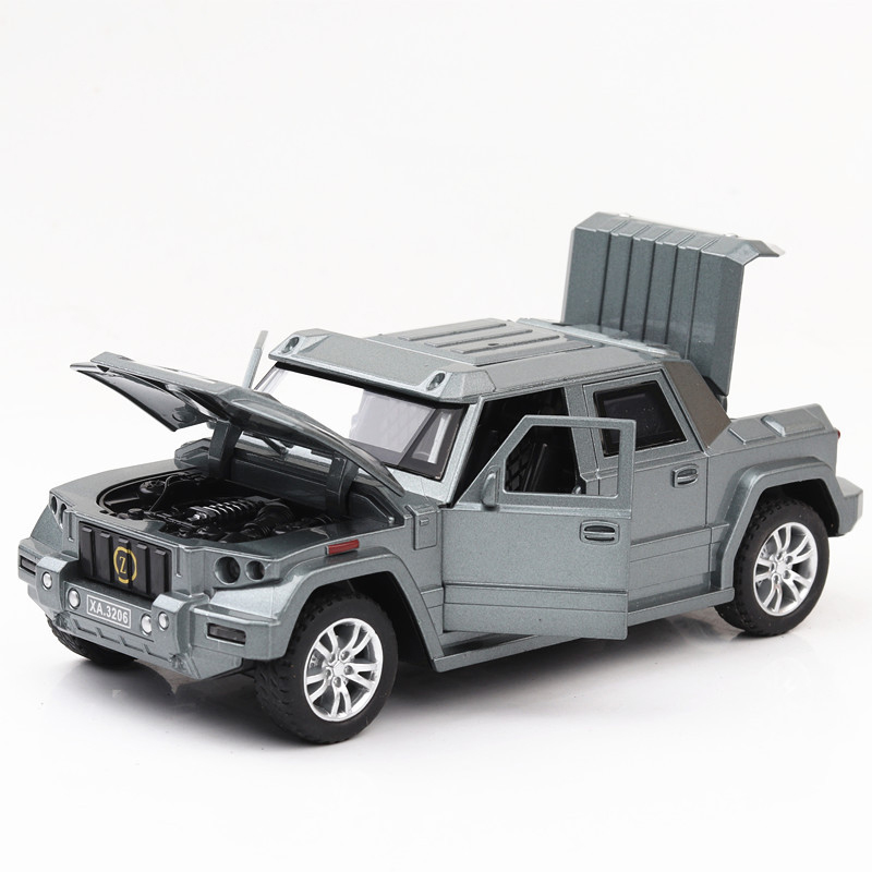 1 32 Scale Kombat Off Road SUV Car Model Diecast Vehicle Tos Simulation Bulletproof Car Alloy Auto Educational Model Toy For Boy in Diecasts Toy Vehicles from Toys Hobbies