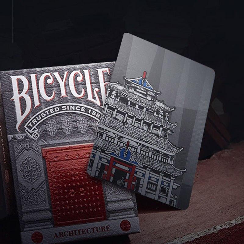 Vélo Chinois Style Ville Chine Architecture Carte À Jouer Collection Casino Poker Carte Conseil Jeu Magique Catégorie Puzzle Carte