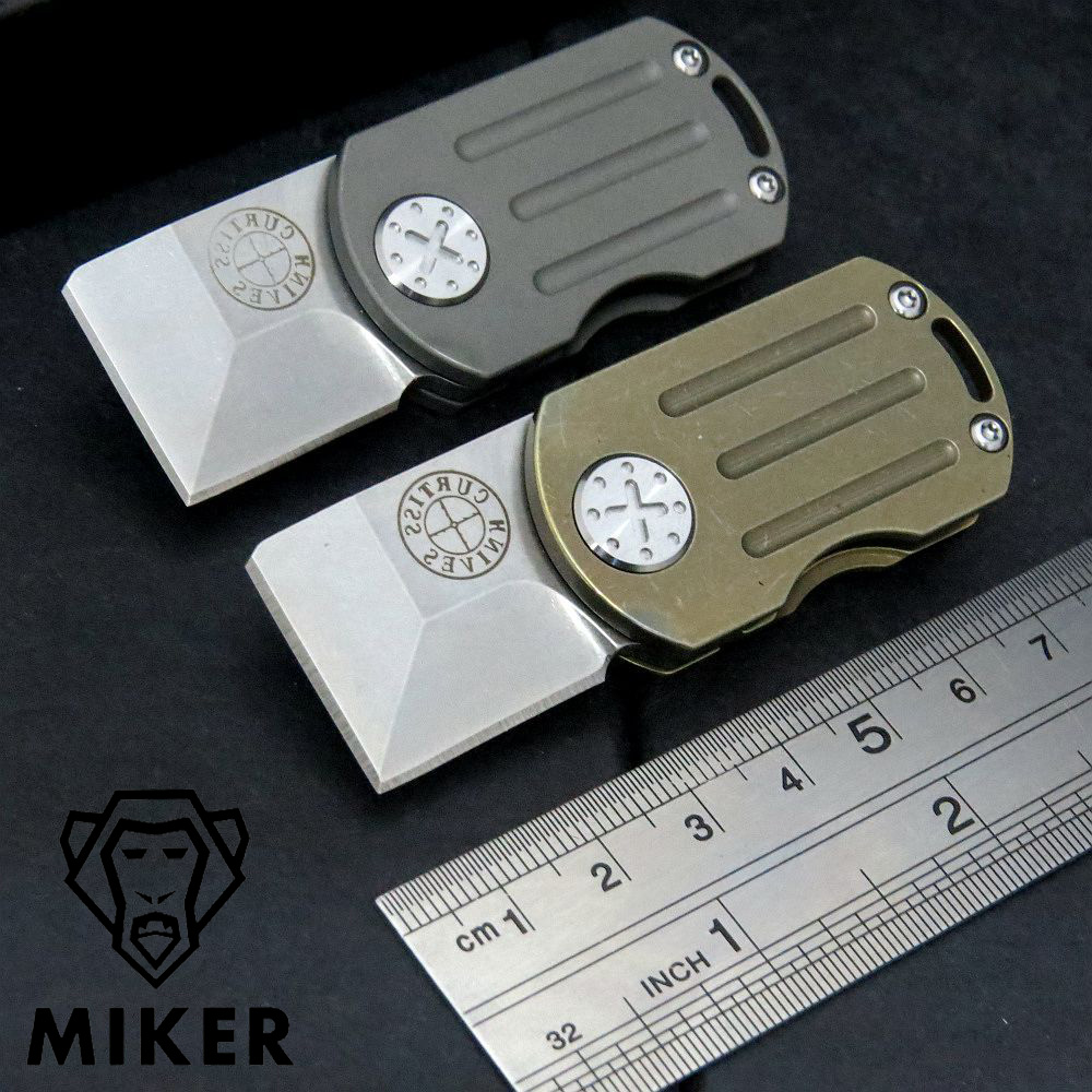 Mini folding knife M390 Blade Titanium Alloy Handle multi-function knife outdoor EDC tool Hiking camping pocket Survival knives multi tool outdoor survival knife 7 in 1 pocket multi function tools set mini foldaway plers knife screwdriver