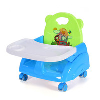 Kids booster seats can fold portable baby highchair dinner feeding chairs for 6M 36M