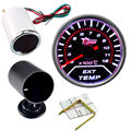 "EE support Car Clock  2"" 52mm White Shell Smoke Len LED EGT Exhaust Gas Temp Gauge Meter Dial + Pod Holder XY01"