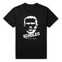 GILDAN Men S O Neck Short Funny T Shirt England Jersey Paul Scholes Footballer Jerseys In