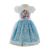 Summer Girls Dress Elsa Dress For Baby Girl Clothes Brand Kids Princess Dresses Party Role Play