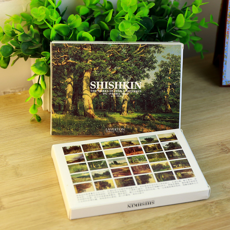 30sheets/LOT Shishkin Painting Postcard   Shishkin Postcards/Greeting Card/wish Card/Fashion Gift 30pcs in one postcard owe you a song romantic love christmas postcards greeting birthday message cards 10 2x14 2cm