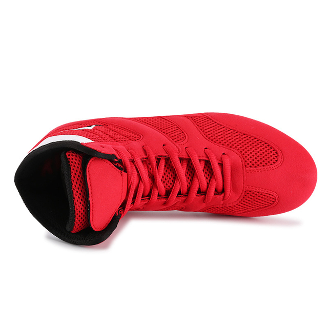 good quality air permeable wrestling shoes boxing combat shoes unisex taekwondo shoes rubber sole Sneakers Scarpe Boxe Uomo