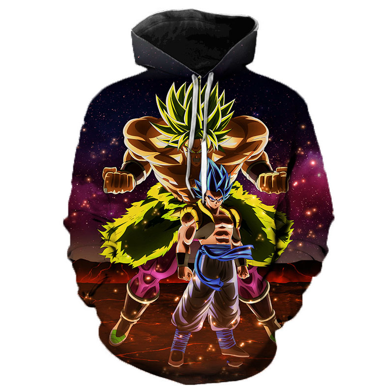 Men/'s Dragon Ball Z Goku Super Saiyan Broly 3D Print Casual Hoodie Sweatshirt