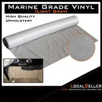 Auto Vinyl Marine Boat Upholstery Mold Resistant Fabric Fake Leather Light Grey 185cm x 139cm