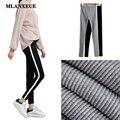 Nova Moda Mulheres Cozy Leggings Cintura Elástica Calças Slim Calça Casual Calças Calças de Algodão Quente Feminina