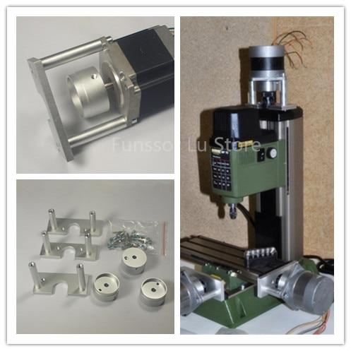 CNC Machine Parts PROXXON MF70  Nema 23 Stepper MOTOR MOUNTING KIT  Bore Size 6.35MM Silver Color