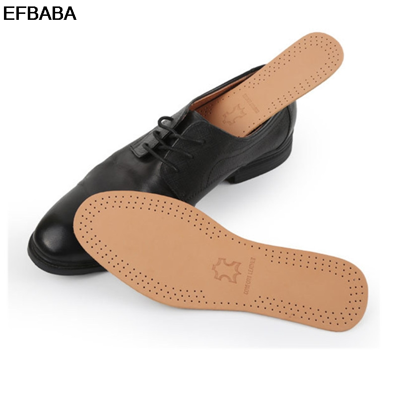 EFBABA Leather Sports Insoles Pads Sweat Absorbent Breathable Insole Latex Damping Insoles Men Women Shoe Pad Insert Accessoires
