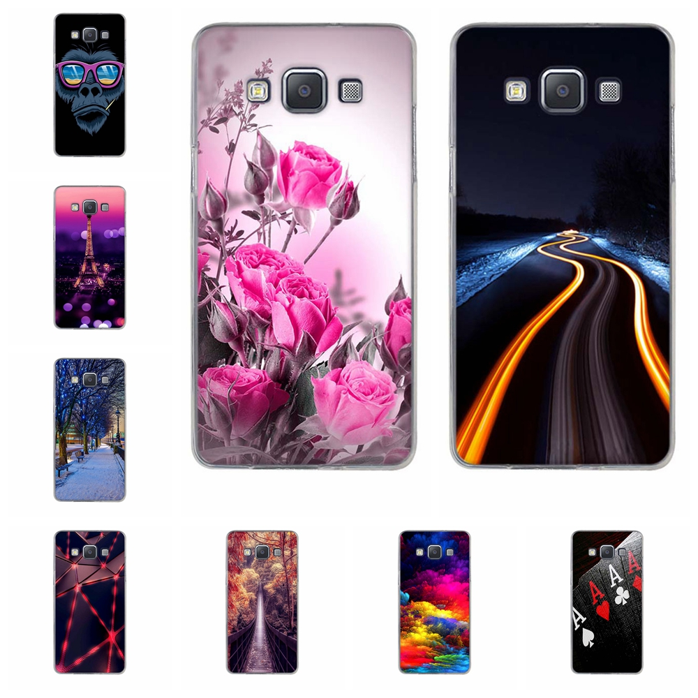 For <font><b>Samsung</b></font> Galaxy A5 Case TPU For <font><b>Samsung</b></font> Galaxy A5 A500F <font><b>A500FU</b></font> A500M Cover Trees Patterned For <font><b>Samsung</b></font> A5 A500Y A500K Coque image