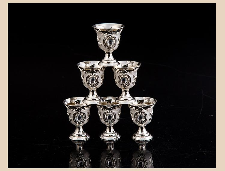 Muslim   Snifters Gold Goblet With Hip Flasks Tray Engraving Shot Glass  teaware Gift