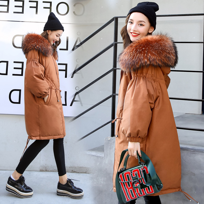 Maternity Winter Coat Pregnant Women Duck Down Jacket with Raccoon Fur Collar Hooded Outwear maternity winter coat pregnant women pregnant women cotton black coat large size coat tide tan collar thick long hooded jacket