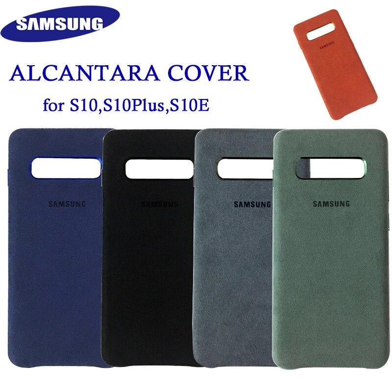 Original Samsung S10 Alcantara Cover Case Leather Premium Case For Galaxy S10 Plus S10+ S10E Case Suede Cover 5 Color Anti-kncok
