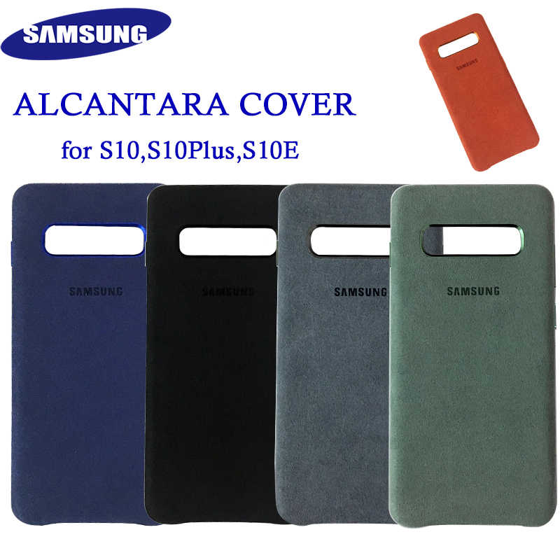 Original Samsung S10 Alcantara Cover Case Leather Premium case for Galaxy S10 Plus S10+ S10E Case Suede Cover 5 Color Anti-kncok
