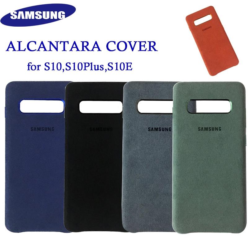 Original Samsung S10 Alcantara Cover Case Leather Premium case for Galaxy S10 Plus S10+ S10E Case Suede Cover 5 Color Anti-kncok iphone 6 plus kılıf