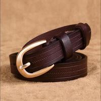 Genuine leather belt strap Women casual all-match cowhide women's thin belt decoration fashion pin buckle waist of trousers belt