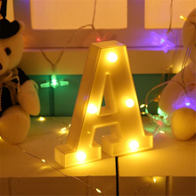 3D Luminous Letters LED Night Light Creative Alphabet Marquee Sign Light Indoor Wall Hanging Night Lamp Wedding Party Decoration new wedding event decoration gifts white wooden letter led marquee sign alphabet light indoor wall light up night light