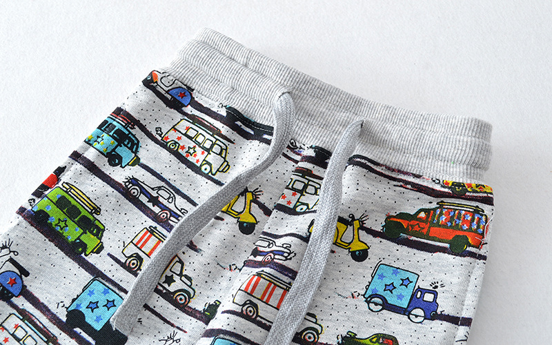 SAILEROAD 2-7Years Cartoon Car Pattern Boys Full Length Pants Spring Autumn Baby Kids Casual Pants Cotton Children Boy's Trouser 3