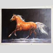 100% Hand Painted Super Clear Horse High-quality Art Painting On Canvas Wall Adornment pictures For Home Decor