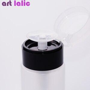 Image 3 - 75ML Nail Art Mini pompe distributeur bouteille vide Gel acrylique dissolvant de vernis nettoyant liquide conteneur stockage petite bouteille de pression