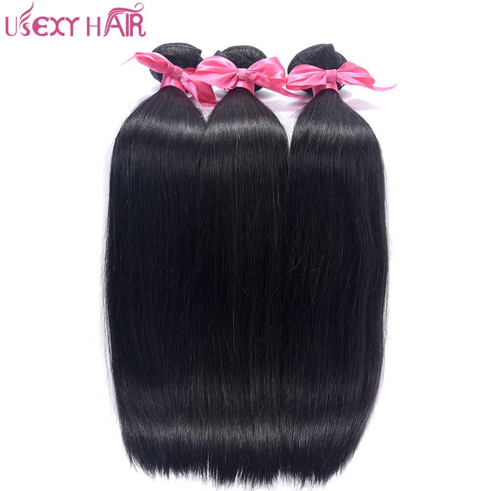 USEXY волосы перуанские прямые волосы плетение пучок s человеческие волосы для наращивания двойной уток 1 шт пучки волос remy
