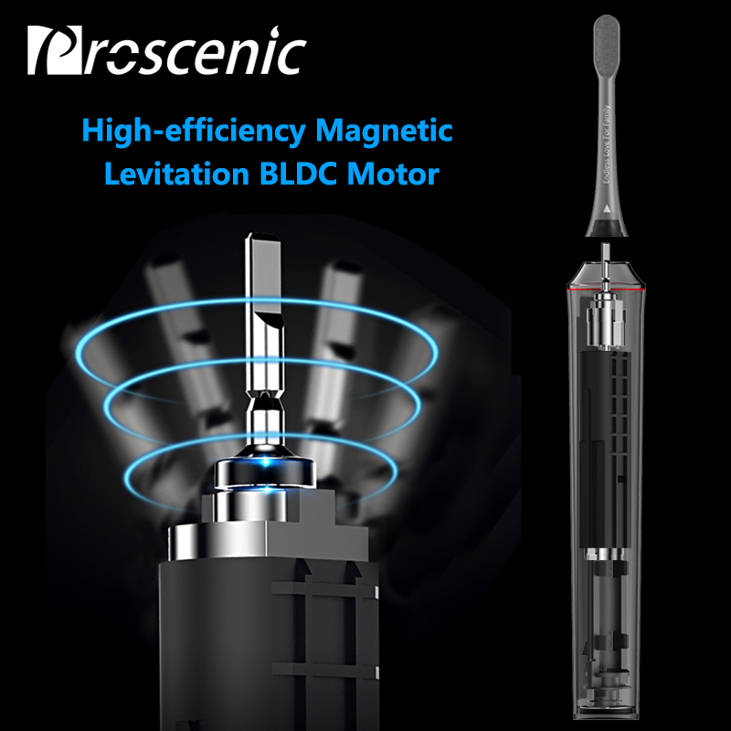 Proscenic Ultrasonic Electric Toothbrush Rechargeable Toothbrush for Adults with APP Bluetooth Sterilization Charging Base