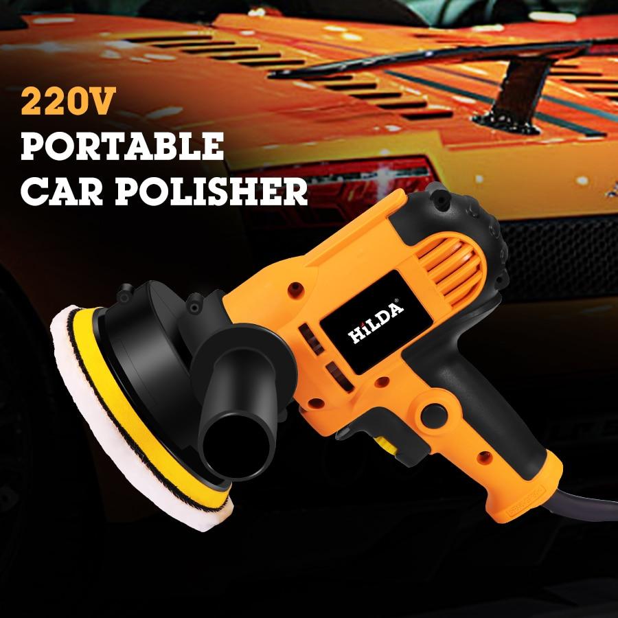 Speed 220V Polisher Tools Electric Powewr Adjustable Auto Machine Sanding Polishing Car Accessories Machine Tools Waxing Car