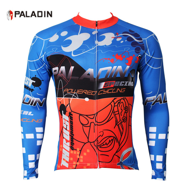 274285865 PALADIN Cycling Clothing Jersey Long Sleeve Autumn Sports Men Full Rear  Pockets Zippered Cycle Bicycle Clothes Top Shirt