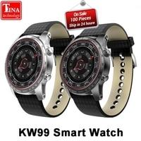 Original Men Heart Rate Monitoring Bluetooth KW99 Smart Watch Phone MTK6580 3G WIFI GPS Watch Smartwatch