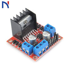 1PCS Smart Electronics L298N Stepper DC Motor Driver Shield Expansion Development Board for arduino DIY Car Robot(China)