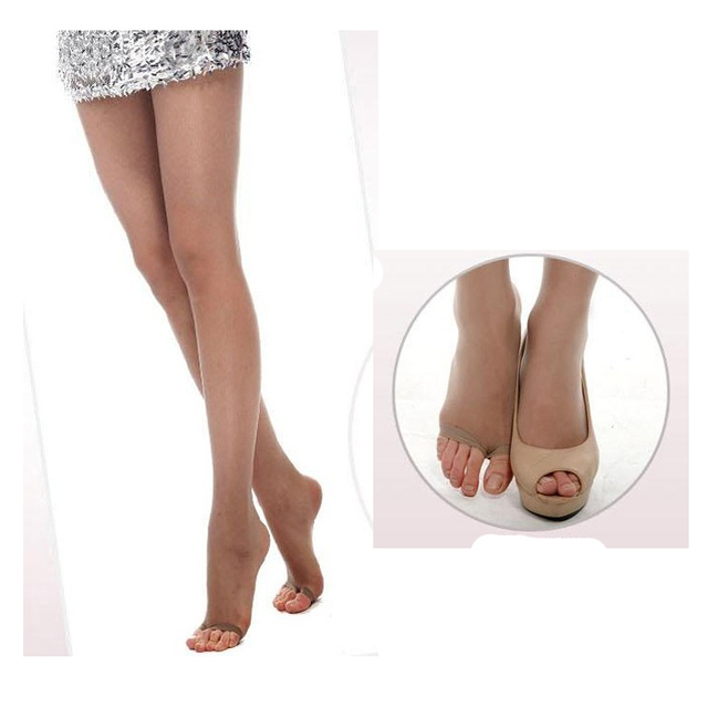 a41995375 Fashion tights hosiery silk stocking sexy pantyhose Nylon Toe exposure  super thin transparent black