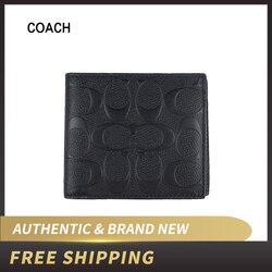 Coach Herren Münze Brieftasche in Unterschrift Leder F75363/F75371
