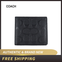 Coach Mens Coin Wallet in Signature Leather F75363/F75371