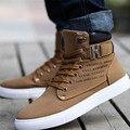 1 par de Primavera Otoño Zapatos de Los Hombres Calientes Zapatos Tenis Masculino Masculinos de Los Hombres Ocasionales Cómodos Zapatos de Lona Botas 871485