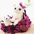 Criativo Super Cute Animais de Pelúcia Moda Princesa Saco Kawaii Saco Do Gato Do Cão Macio Stuffed Boneca Removível Adorável Mochilas Presente Da Menina