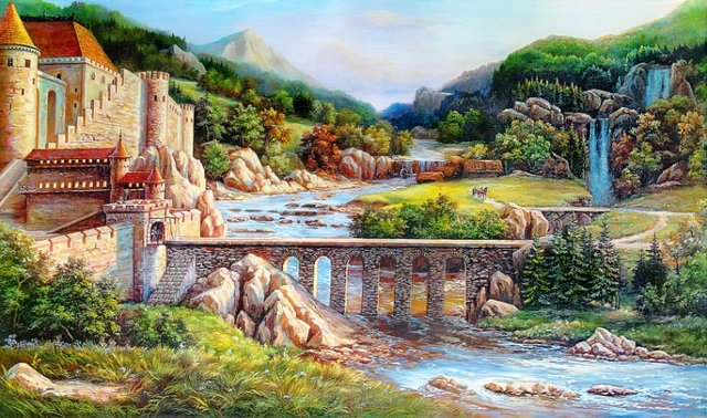 Free shipping Big size wall gobelin tapestry Natural style art picture,Beautiful European Landscape Wall Hanging