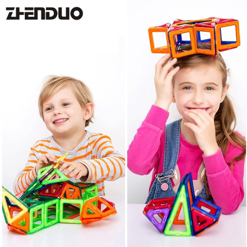 Zhenduo 32PCS Colorful Can Shine Mini Magnetic Building Blocks Toys Construction Bricks Set DIY Educational Toy Magnet For Kids muwanzi wooden beaded toys colorful mini building blocks for toddler