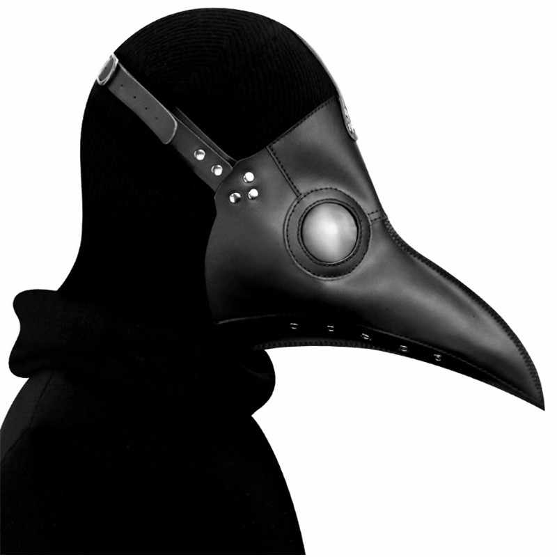 High Quality Punk Leather Steam Plague Bird Beak Mask Halloween Cosplay Prop Plague Doctor Party Carnival Easter Gothic Style